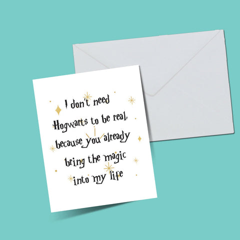 Hogwarts magic card - ThePeppyStore