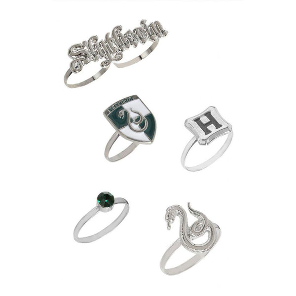 Harry Potter : Slytherin Ring Set - ThePeppyStore