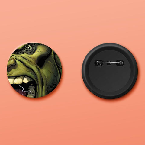 Hulk face badge - ThePeppyStore