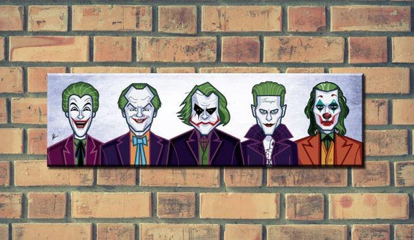 Joker Evolution Of The Clown Wall Art - ThePeppyStore