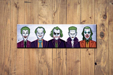 Joker Evolution Of The Clown Wall Art