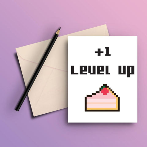 Level up card - ThePeppyStore
