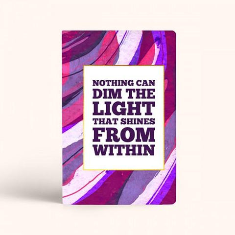 Light Shines From Within Weekly Planner - ThePeppyStore
