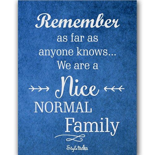 Nice Normal Family Magnet - ThePeppyStore