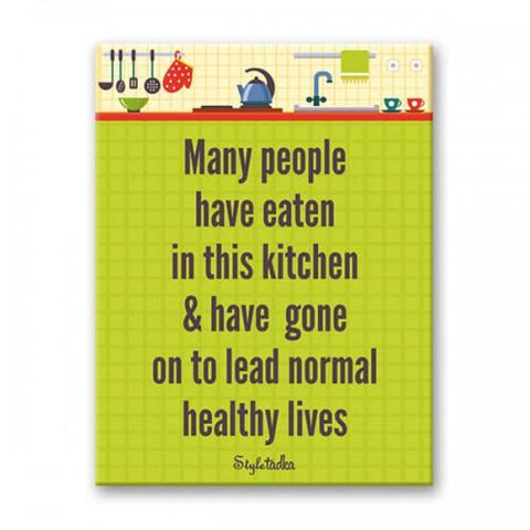 Normal Healthy Lives Fridge Magnet - ThePeppyStore