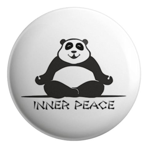 Inner Peace Badge Magnet