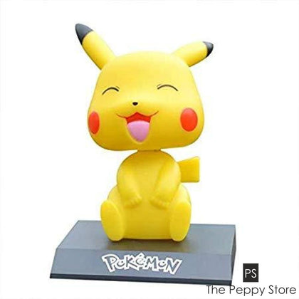 Pikachu Pokemon Bobblehead With Mobile Phone Stand