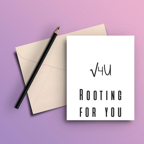 Rooting for you card - ThePeppyStore