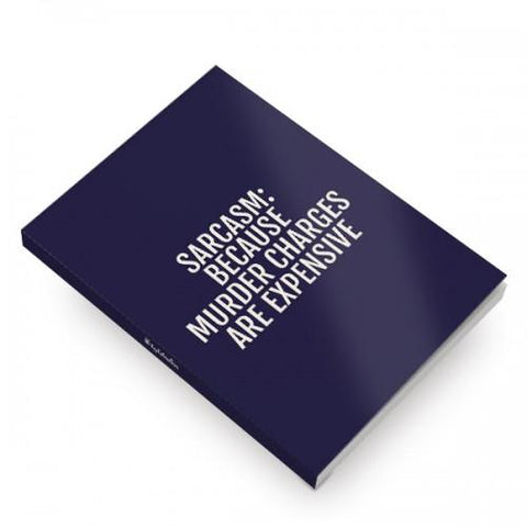 Sarcasm Softcover Notebooks - ThePeppyStore