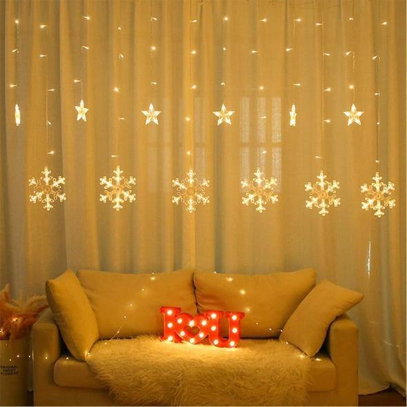 Snowflakes String Lights ( 6+6 ) - ThePeppyStore