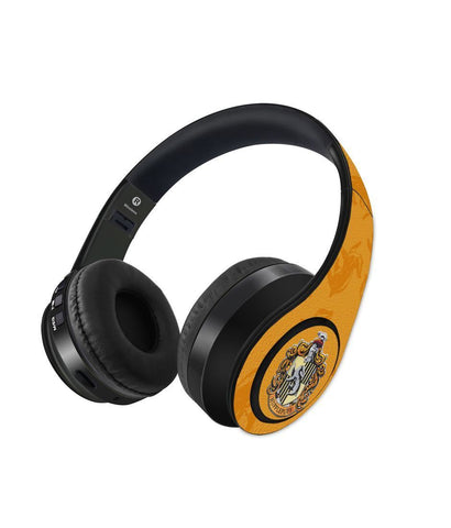 Crest Hufflepuff - Decibel Wireless On Ear Headphones - ThePeppyStore