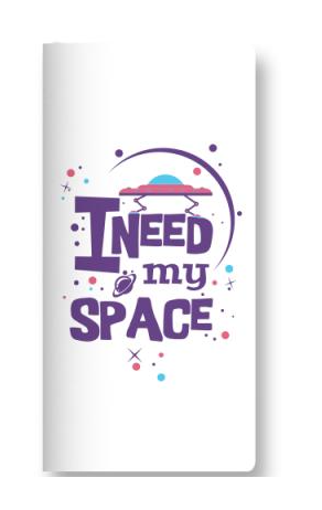 I Need My Space Scribble Pads - ThePeppyStore