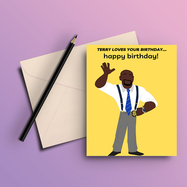 Terry Loves Your Birthday - The Big Bang Theory Card - ThePeppyStore