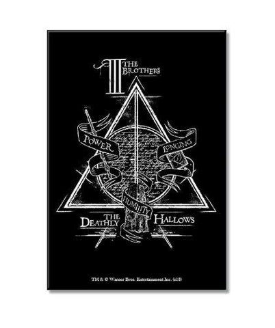 HARRY POTTER TRIANGLE - RECTANGULAR FRIDGE MAGNET - ThePeppyStore