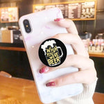 Wish You Were Beer phone holder / phone grips - ThePeppyStore