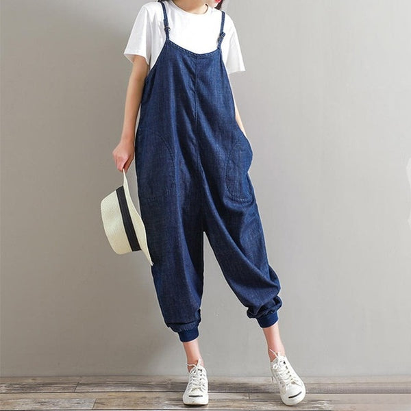 ZANZEA Rompers Womens Jumpsuit 2018 Summer Overalls Casual Loose Sleeveless Backless Playsuits  Bottoms Pants Plus Size 5XL