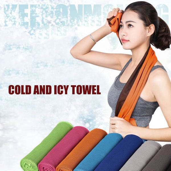 Two-tone Ice Towel Sports Travel Camping Cold Towels with Cool Cooling Effect Fitness Yoga Golf Outdoor Sports Cooling Towels