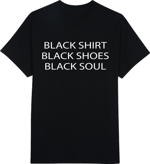 black shirt shoes soul letters print Women tshirts Cotton Casual Funny T Shirt For Lady Top Tee Hipster black Drop Ship Z-296
