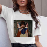 Dark Snow White Harajuku T Shirt Women Ullzang Vintage 90s Aesthetic T-shirt Korean Style Tshirt Fashion Graphic Top Tees Female