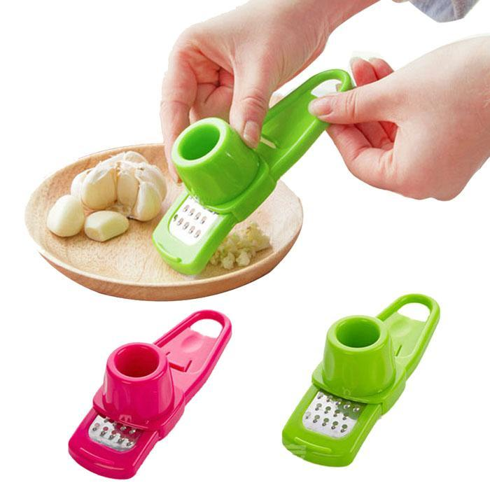Multi-function Stainless Steel Pressing Garlic Slicer