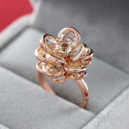 Austrian Crystal Rose Ring