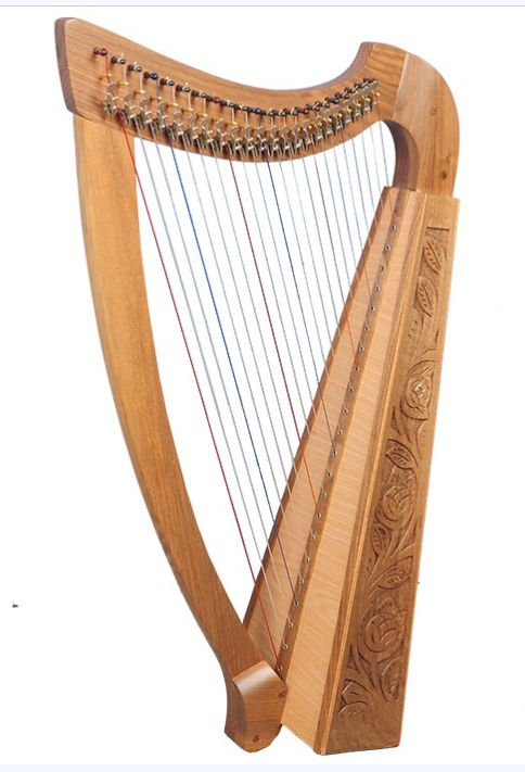 Trinity Harp 22 string inc cover and accessories
