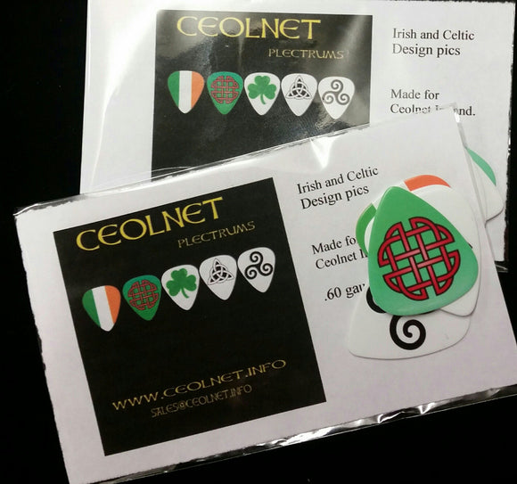 Ceolnet Irish & Celtic Plectrums GIFT SET