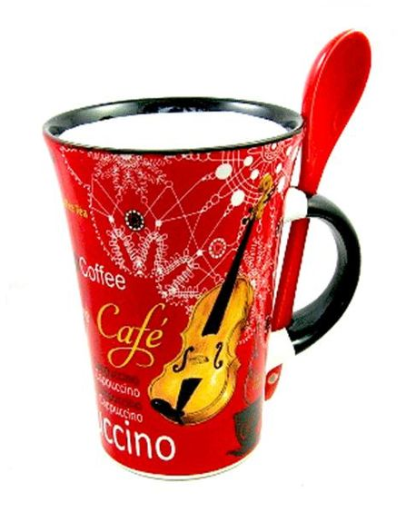 Cappuccino Mug with Spoon (boxed)