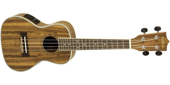Freshman Koa Ukulele Concert with EQ/tuner, inc gig bag