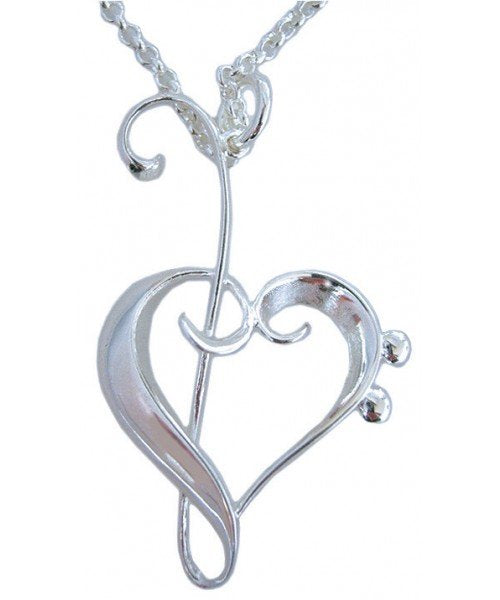 Heart of Clefs Pendant and Earring Set
