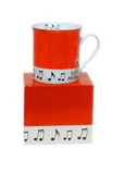 "Colour Block Mug in Box ""Love Music"" with notes"