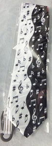 Tie Black and White Wavy Notes