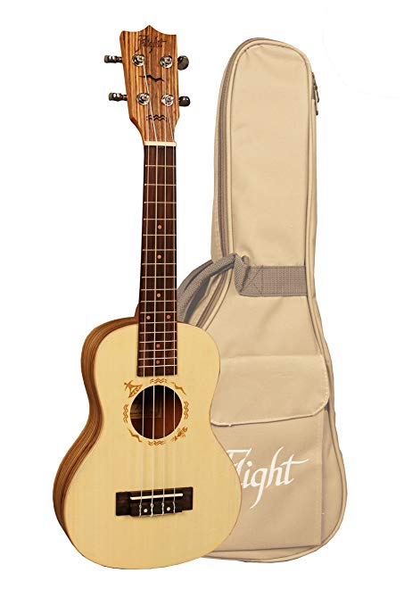 FLIGHT DUC525 CONCERT UKE solid Sruce top/Zebra body inc XMAS DEAL