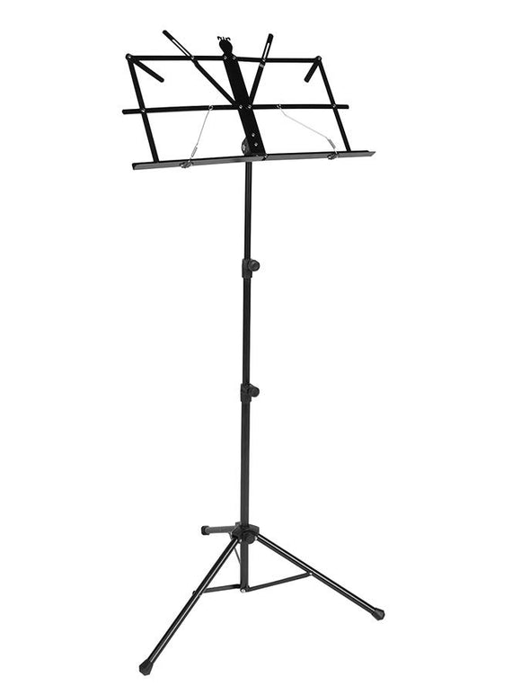 Boston Music Stand, Black with carrying bag