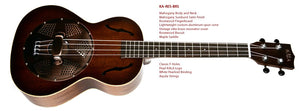 Kala Tenor with Brass Resonator  inc padded cover