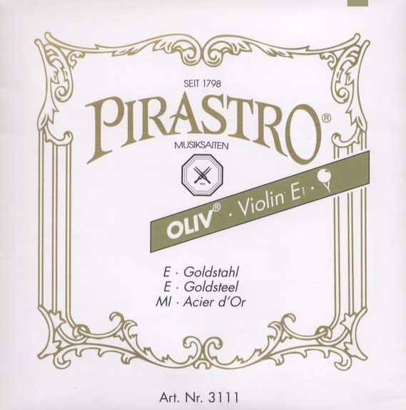 Pirastro Oliv E  Ball end