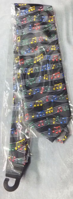 Tie Colourful  Notes and Staves