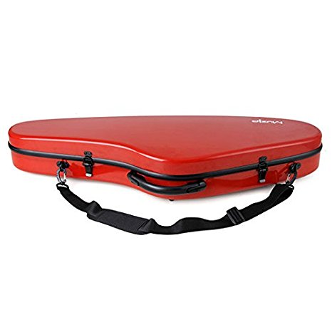 Valentino Red Fibre reinforced Violin Case 4/4