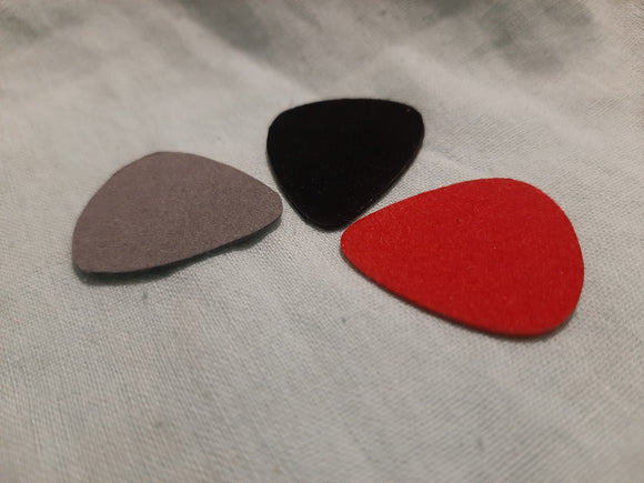 Felt plectrums Set of 3 standard teardrop