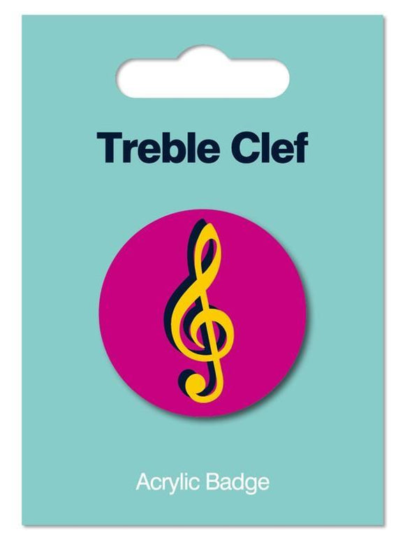Acrylic Music Themed Lapel Badges