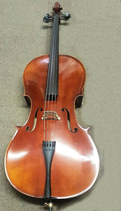 Amadeus Cello Outfit, hand varnished, Fully fitted, Ebony fittings