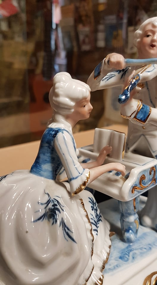 Blue and White Figurine, Double, Violin and Piano