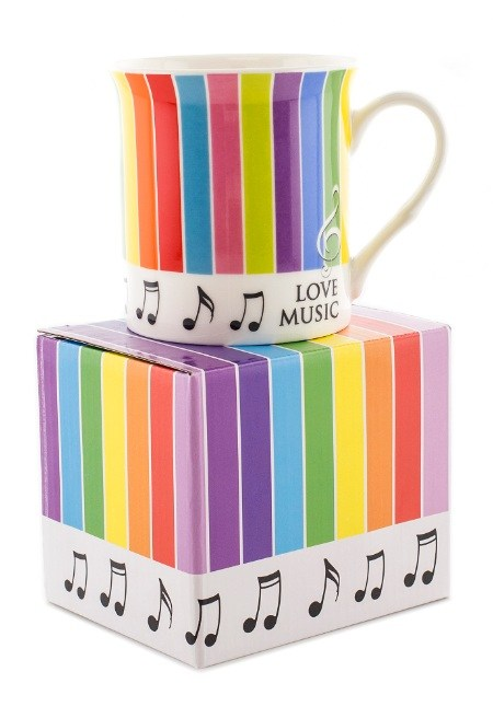Rainbow Mugs (Spots or Stripes)  in Matching Box