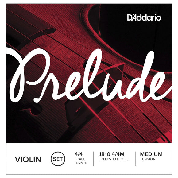 D'Addario Prelude Violin Strings 4/4