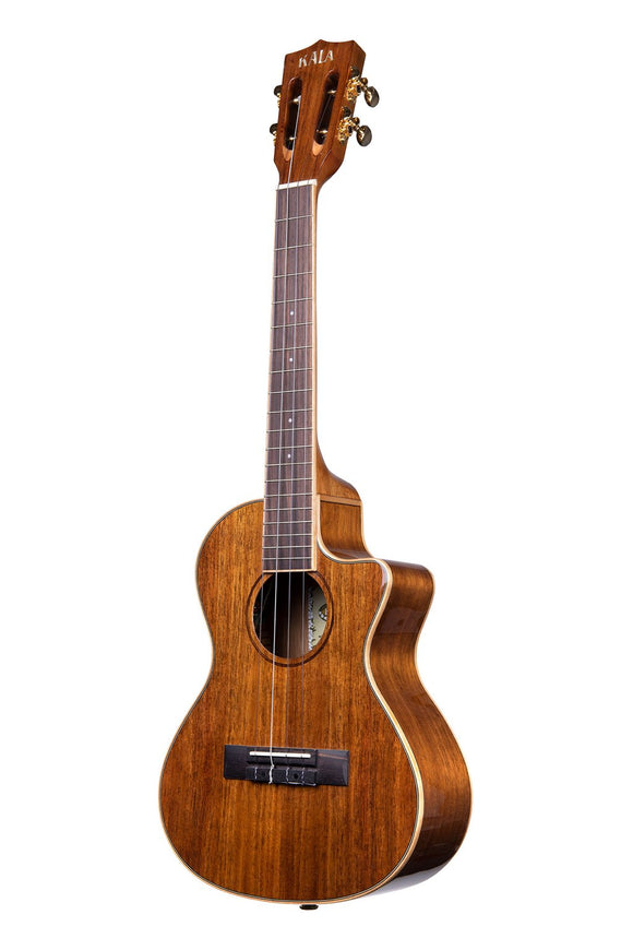 New!! Kala Hawaiian Koa, Gloss, EQ, Cutaway Concert/Tenor KA-KGE
