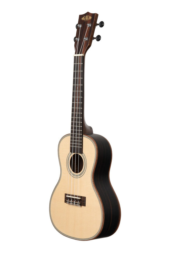 New! Kala KA-SSEBY Solid Spruce top/Striped Ebony Uke  Tenor