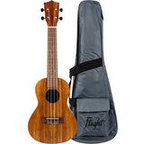 Flight NUC200 Teak Wood Concert Ukulele, Padded Cover