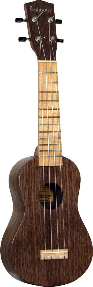 New! Ashbury AU-12 Black Walnut Soprano Uke