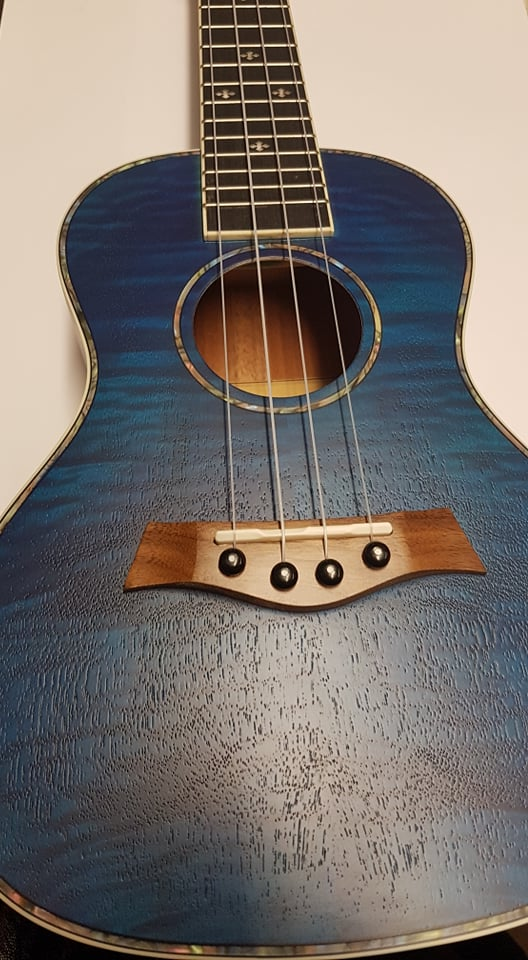 NEW! Ashbury Concert Ukulele, Maple in Green or Blue