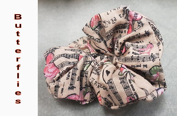 Curiosa Devon Handmade Music Themed Scrunchies